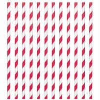 Apple Red Paper Straws (24)